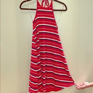 Striped Halter - Red Multi Stripes